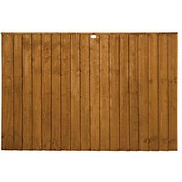 Forest Garden Featheredge Fence Panel - 6 x 4ft Pack of 4