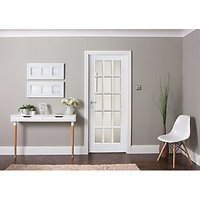 Jeld-wen Internal White Primed MDF Door 15 Lite Clear Glazed 1981 x 838mm