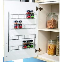 Wickes Chrome 4 Tier Spice Rack 500mm