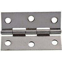 Wickes Butt Hinge Chrome Plated 63mm 20 Pack