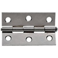 Wickes Loose Pin Butt Hinge Chrome Plated 76mm 2 Pack