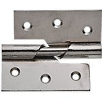Wickes Rising Butt Hinge Right Hand 76mm Chrome Plated 2 Pack