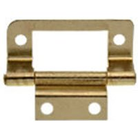 Wickes Double Cranked Flush Hinge Brass Plated 51mm 2 Pack