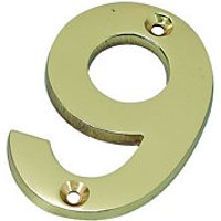 Wickes Door Number 9 Brass Plated