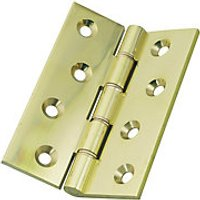 Wickes Butt Hinge Solid Brass 102mm 3 Pack