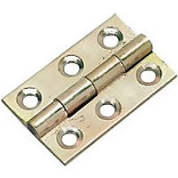 Wickes Butt Hinge Solid Brass 38mm 2 Pack