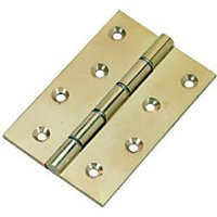 Wickes Butt Hinge Brass 102mm 3 Pack