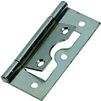 Wickes Flush Hinge Zinc Plated 63mm 2 Pack