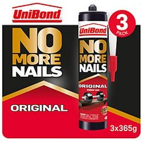 UniBond No More Nails Original Cartridge Triple Pack 300ml