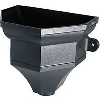 Wickes Black Cast Iron Effect Ogee Rainwater Hopper