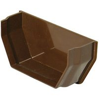 Wickes Brown Squareline Gutter Internal Stopend
