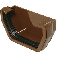Wickes Brown Squareline Gutter External Stopend