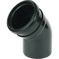 Wickes 110mm Black Soil Pipe 135 Deg Bend