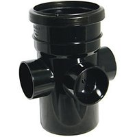 Wickes Black 3 Socket 110mm Soil Boss Pipe