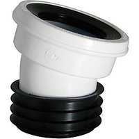 Wickes 110mm White 14 Deg WC Pan Connector