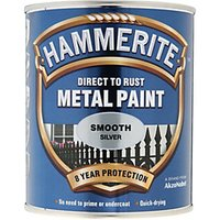 Hammerite Metal Paint - Smooth Silver 750ml