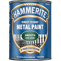 Hammerite Metal Paint - Smooth Dark Green 750ml