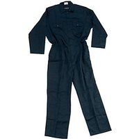 Wickes Heavy Duty Polycotton Boiler Suit Navy Blue Size L