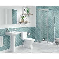Wickes Soho Green Ceramic Tile 300 x 100mm