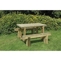 Forest Garden Sleeper Bench and Table Set 1.2m