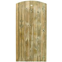 Wickes Pressure Treated Curved Top Timber Gate - 900 x 1800 mm