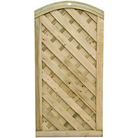 Wickes Cambridge Domed Top Timber Gate - 900 x 1800 mm