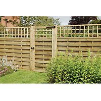 Wickes Hertford Lattice Top Timber Gate - 900 x 1800 mm