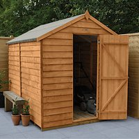Wickes Apex Overlap Dip Treated Windowless Shed - 6 x 8 ft