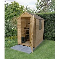 Wickes Apex Overlap Pressure Treated Shed - 4 x 6 ft