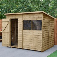 Wickes Pent Overlap Pressure Treated Shed - 8 x 6 ft