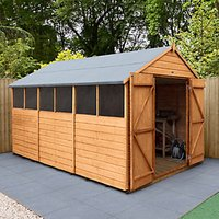 Forest Garden Apex Shiplap Dip Treated Double Door Shed - 8 x 12 ft