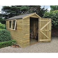 Forest Garden Apex Tongue & Groove Pressure Treated Shed - 6 x 8 ft