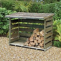 Forest Garden Timber Log Store Pressure Treated - 6 x 3 ft
