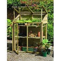 Forest Garden Mini Natural Timber Softwood Frame Greenhouse - 2 x 4 ft