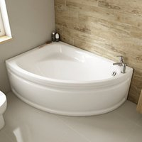 Wickes Palma Corner Bath Left Hand White 1495mm