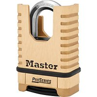 Master Lock Proseries 1177D 4 Digit Resettable Shrouded Shackle Brass Padlock 57mm