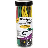Master Lock Jar of 6 Twin Wire Bungees (2 x 60+ 2 x 80 + 2 x 100)