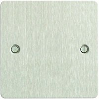 Wickes Blanking Plate 1 Gang Brushed Steel Ultra Flat Plate