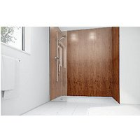 Wickes Brass Laminate 900x900mm 3 sided Shower Panel Kit