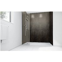 Wickes Ash Gloss Laminate 900x900mm 3 sided Shower Panel Kit