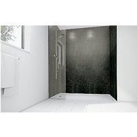 Wickes Lead Laminate 900x900mm 3 sided Shower Panel Kit