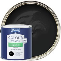 Wickes Trade Eggshell Paint - Black 1L