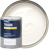 Wickes Trade Eggshell Paint - Pure Brilliant White 5L