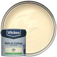 Wickes Colour @ Home Vinyl Silk Emulsion Paint - Cream 2.5L