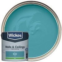 Wickes Colour @ Home Vinyl Silk Emulsion Paint - Teal 2.5L