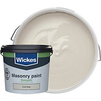 Wickes Smooth Masonry Paint - Cool Grey 5L