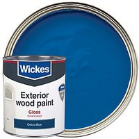 Wickes Exterior Gloss Paint - Oxford Blue 750ml