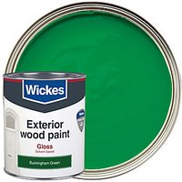 Wickes Exterior Gloss Paint - Buckingham Green 750ml