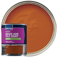 Wickes Exterior Brick & Tile Paint - Gloss Red 750ml