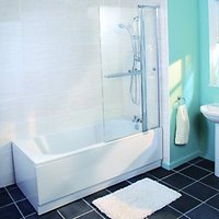 Wickes Keyhole Shower Bath White 1700mm